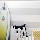 Un cuarto de bebé inspirado en el surf